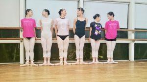 バレエのリハーサル後